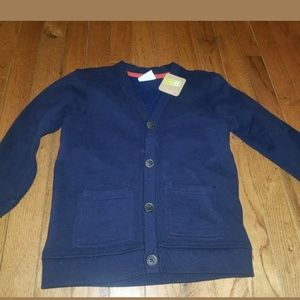 Crazy 8 Boy Cardigan navy sweatshirt blazer Easter